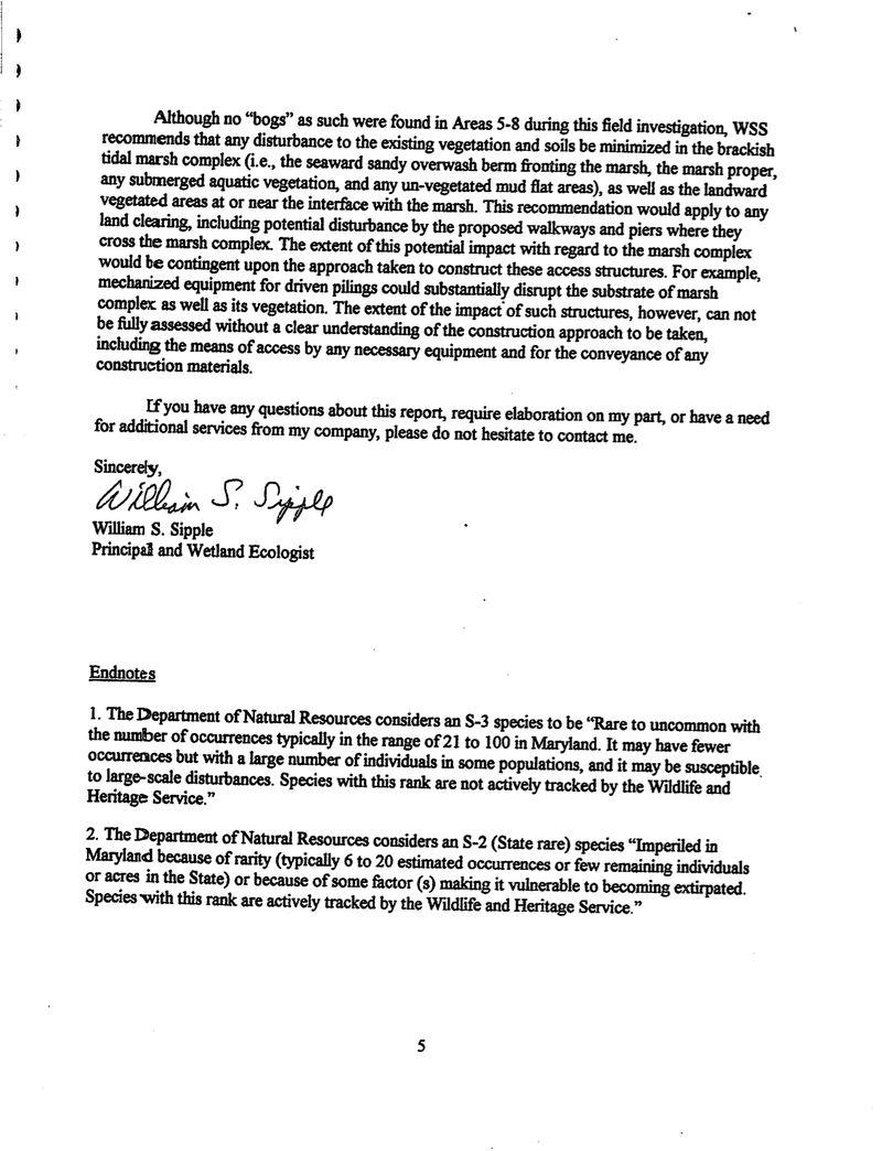 Wetland Field Inspection Report for Sullivan Cove